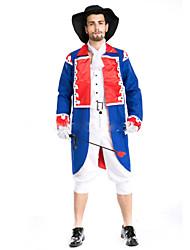 Costumes de Cosplay Bal Masqué Soldat/Guerrier Prince Pirate Fête / Célébration Déguisement d'Halloween Mode Haut Pantalon Chapeau