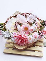 Women's Fabric Hair Clip Five Flowers Cute Party Casual Spring Summer Pink Headband Headpiece Head Wreath  Hair Accessories  Flower Girls