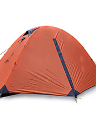 2 persons Tent Single Fold Tent One Room Camping Tent >3000mm Fiberglass Oxford Waterproof Portable-Hiking Camping-Orange