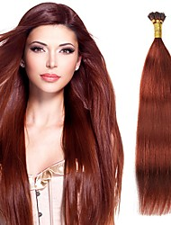 100% Real Remy Human Hair Silky Straight Stick I Tip Hair Shape Keratin Fusion Brazilian Hair Extensions 100s