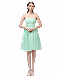 A-Line Sweetheart Short / Mini Chiffon Cocktail Party Dress with Sequins