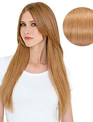 """9pcs / set de luxe 120g # 27 fraise blonde sale blonde clip dans les extensions de cheveux 16 """"20"""" 100% cheveux humains"""