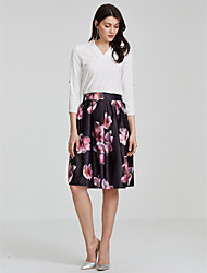 Women's Casual/Daily Knee-length Skirts A Line Print Fall Winter