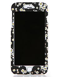Pour apple iphone 7 7plus casquette couverture corps plein fleur fleur pc 6s plus 6 plus 6s 6