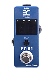 ENO PT-21 Mini Pedal Tuner True Bypass Guitar Effect Pedal Blue  Free Connector