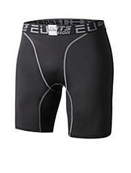 Men's Short Sleeve Running Breathable Comfortable Sports Wear Exercise & Fitness Polyester Slim