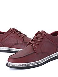 Herren-Sneakers Komfort synthetischen Outdoor-Burgunder schwarz