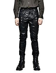 Homme Punk & Gothic Street Chic Taille Normale Micro-élastique Chino Pantalon,Ample Couleur Pleine