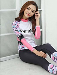 Women's Full Wetsuit Breathable Quick Dry Anatomic Design Neoprene Diving Suit Long Sleeve Diving Suits-Diving Spring SummerFloral /