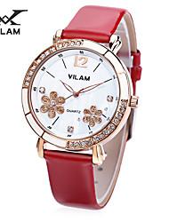 Vilam Women's Fashion Watch Japanese Quartz Water Proof girl watches Crystal Diamond Ladies Casual watch