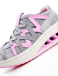 Women's Sneakers Summer Comfort Light Soles Tulle Outdoor Casual Low Heel Light Blue Blushing Pink