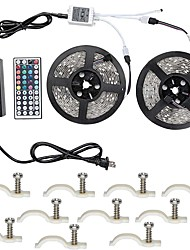 Led Strip Lights Kit 5050 Waterproof 32.8 Ft (10M) 600leds RGB 60leds/m with 44key Ir Controller and 12V 6A  Power Supply with 10PCS Mounting Bracket