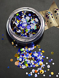 1bottle fashion nail art diy beauté mixte paillette colorée paillette tranche ronde p12