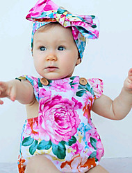 Girls Baby Fashion Floral One-Pieces Cotton Summer Sleeveless Jumpsuit Kids Backless Clothing