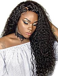 Perruques de cheveux humains devant en lacet pour femmes noires pré-dépouillées