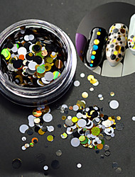 1bottle fashion round slice nail art decoration mixte coloré laser glitter diy beauté paillette tranche p6