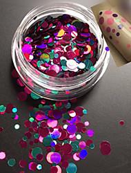 1bottle mode doux style coloré ongle art paillette paillette ronde tranche douce diy beauté décoration p11