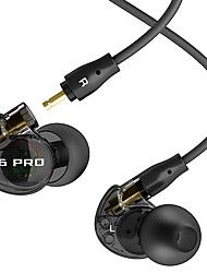 MEE-audio M6-Pro stage-ear monitor headphones with a microphone motion earplugs