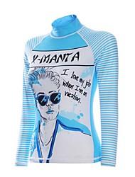 Mulheres Camisa de Mergulho Respirável Secagem Rápida Design Anatômico Náilon Chinês Fato de Mergulho Manga Comprida Blusas-Mergulho