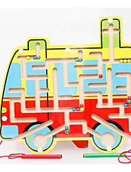 Jogos de Labirinto & Lógica para presente Blocos de Construir Ônibus Madeira 2 a 4 Anos Brinquedos