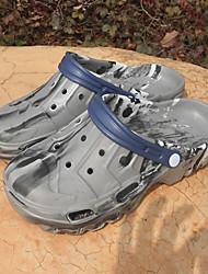 Masculino-Sandálias-Buraco Shoes-Rasteiro--Borracha-Ar-Livre Casual
