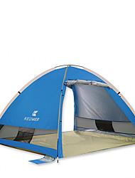 3-4 Personen Zelt Einzeln Automatisches Zelt Einzimmer Camping Zelt 1000-1500 mm KohlefaserFeuchtigkeitsundurchlässig Wasserdicht
