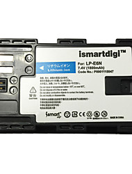 Ismartdigi LPE6N Camera Battery for Canon Eos 90D 80D 70D 60D 5D4 5D3 5D2 5D 7D