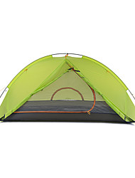 2 persons Tent Double Fold Tent One Room Camping Tent Aluminium Nylon Silicone Foldable Portable-Camping Outdoor-Green