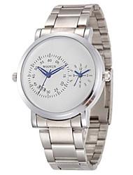 Masculino Relógio Esportivo Relógio de Moda Chinês Quartzo Lega Banda Preta Prata