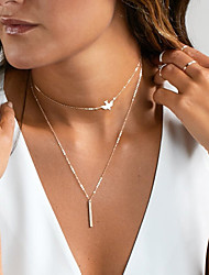 Women's Choker Necklaces Pendant Necklaces Jewelry Alloy Dangling Style Pendant Costume Jewelry Jewelry For Wedding Party Anniversary