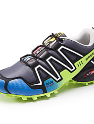 Running Men's Athletic Shoes Comfort PU Spring Summer Fall Winter Athletic Casual Outdoor  Lace-up Dark Blue Gray Green Blue Black/Red Flat