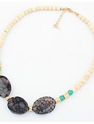 Court Natural Gemstone Necklace Euramerican Statement Strands Collar Choker Rhinestone Necklaces