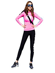 Running Clothing Sets/Suits Polyester Running Sports Wear Stretchy Slim Outdoor clothing Solid S / M / L
