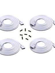 Câble d'extension 4pcs 2m de long connecteur femelle pour rgb 3528 5050 bande avec connecteurs 8pcs 4pin mâle