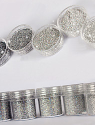 10ml High Flash Glitter Sequins Diamond Superfine Silver  Nail Art Decoration For Nail Polish