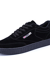 Herren-Sneakers Frühjahr Herbst Komfort PU casual khaki grau schwarz