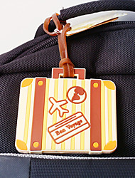 1pcs Let the Adventure Begin Suitcase Luggage Tag Favor  8.2 x 6.5 x 0.5 cm/pcs Beter Gifts® Wedding Keepsakes