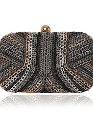 L.WEST Woman Fashion Luxury High-grade Metal Chain Evening Bag