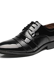 Men's Oxfords  Office & Career Casual Low Heel Black Walking
