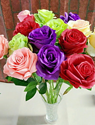 3 Heads Silk Franch Roses Tabletop Flower Artificial Flowers