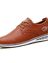 Для мужчин обувь Кожа Весна Осень Зима Удобная обувь Туфли на шнуровке Шнуровка Назначение Повседневные Черный Темно-синий Темно-русый