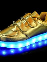Para Meninos-Tênis-Light Up Shoes Shoe luminous-Salto Baixo-Dourado Branco Preto Prata-Courino-Ar-Livre Casual Para Esporte