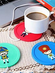 1Pcs  USB Hub Cup Warmer Office Coffee Tea Mug Heater Pad Mat  Winter Drink Random Color