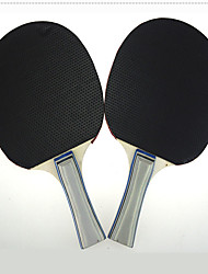 Ping Pang/Table Tennis Rackets Ping Pang/Table Tennis Ball Ping Pang Wood Long Handle Pimples 2 Rackets 3 Table Tennis BallsIndoor