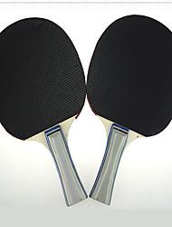 Ping Pang/Tabela raquetes de tênis Ping Pang/Bola de Ténis de Mesa Ping Pang Madeira Cabo Comprido Espinhas2 Raquete 3 Bolas para Tênis