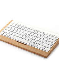 Samdi Bamboo Wood Stand For Apple iMac Computer Bluetooth Wireless Keyboard Wooden Mobile Keyboard Holder Bracket
