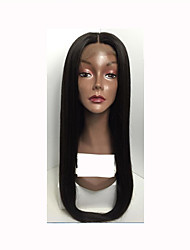 T-Top Hair Lace Front Wigs With Baby Hair Natural Hairline Full Lace Wig Straight Human Hair Wigs For Black Women
