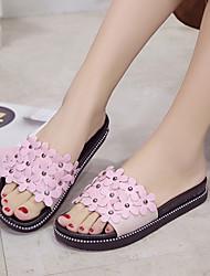 Women's Sandals Slipper Spring Summer Comfort Sweet Beach Fashion  Dress Casual Flat Heel Beading Flower