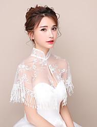 Women's Wrap Capelets Lace Wedding Party/Evening Tassels