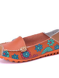 Women's Loafers & Slip-Ons Summer Fall Moccasin Comfort Light Soles Outdoor Dress Casual Low Heel Ruched Flower Walking